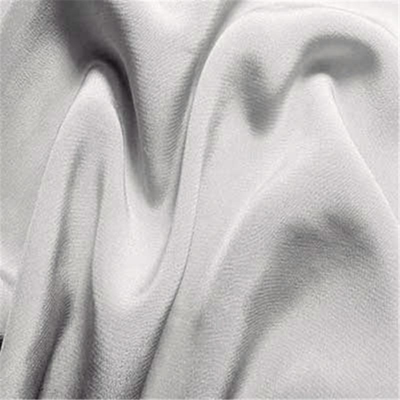 16 мм эластичный шелк крепдешин ткань шелк тутового шелкопряда 108 см ширина серебристый черный синий фиолетовый 10 метров маленькая