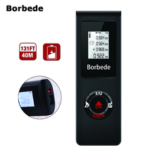 Borbede Mini Laser Distance Meter 40M USB Rechargeable Rangefinder Tape Measure
