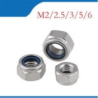 1Bag DIN985 M3 M4 M5 M6 304 Stainless Steel Nylon Self locking Hex Nuts Locknut Slip Lock Nut HW020