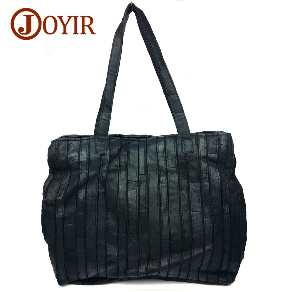 JOYIR Vintage Large Women Genuine Leather Luxury Handbag Patchwork Designer High Quality Tote Bag Shoulder Bag Bolsa Female 9229 free shipping 600w wind grid tie inverter with lcd data for 12v 24v ac wind turbine 90 260vac no need controller and battery