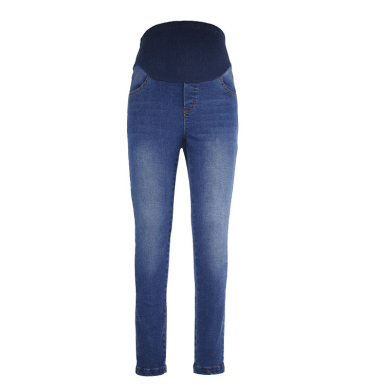2018 New Spring Women Maternity Pants Pregnant Clothing Care Belly Denim Trousers Straight Slim Feet Pants Pregnant Women Pants new arrivals 2017 men s denim jeans mens blue holes trousers casual ankle length slim fit cross pants male cowboy feet m 5xl