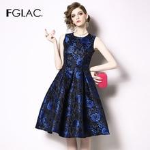 7cda42b540 Nowy europejski w stylu vintage vestidos temperament slim wysoka talia  kwiat letnia sukienka kamizelka bez rękawów