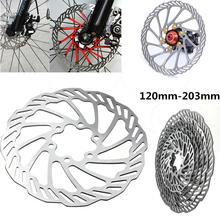 Велосипедный дисковый тормоз роторы MTB велосипед дорожный гоночный велосипед тормозной диск ротор 120 мм/140 мм/160 мм/180 мм/203 мм с болтами