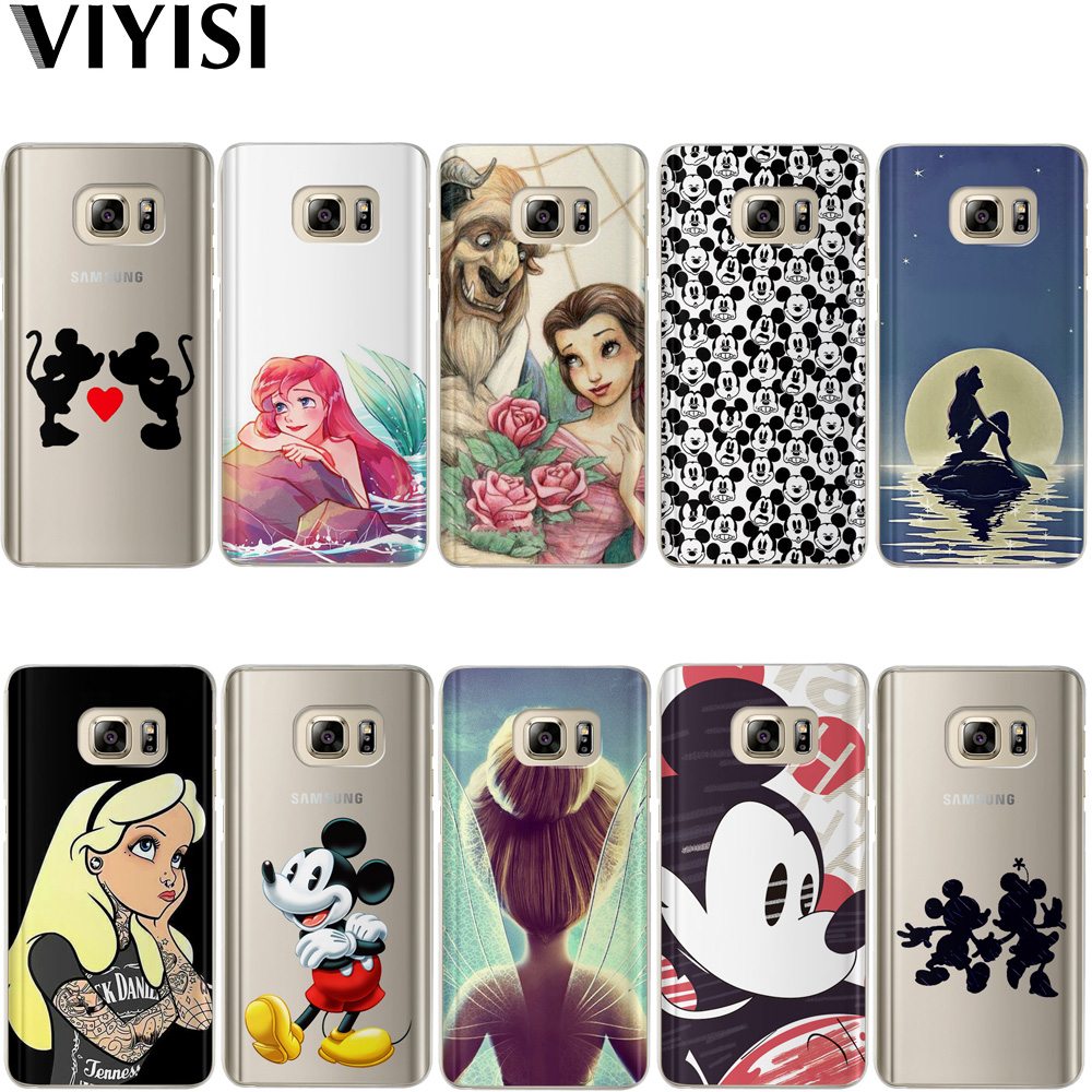 VIYISI Princess Mickey For Samsung Galaxy J3 J5 J7 A5 A3 2017 2016 2015 S6 S7 Edge S8 S9Plus Coque Cover Capinha Capas Back Etiu in Fitted Cases from Cellphones Telecommunications