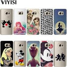 VIYISI Princess Mickey For Samsung Galaxy J3 J5 J7 A5 A3 2017 2016 2015 S6 S7 Edge S8 S9Plus Coque Cover Capinha Capas Back Etiu
