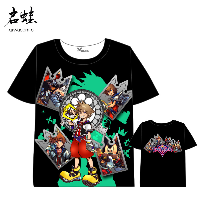 Anime Kingdom Hearts T-shirt Men Women Short Sleeve Summer dress kingdom hearts t shirt
