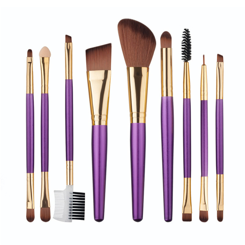 9pcs/Set Pro Women Cosmetic Brushes Set Powder Eyeshadow Foundation Face Blushes New Makeup Beauty Kits Tools 131-1050 лодочный мотор sea pro f 9 9s new