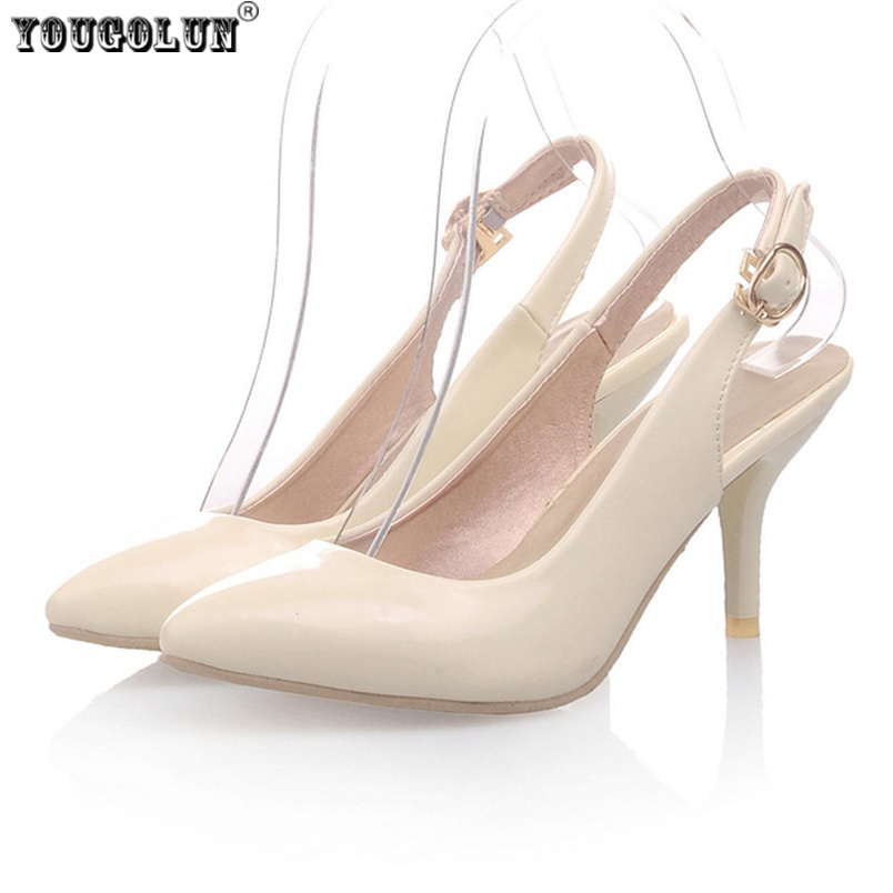 YOUGOLUN Fashion Women Pointed Toe thin high heels Pumps woman summer sandals ladies sexy shoes womens slingback shoes female yougolun women bling pumps sexy pointed toe high heels 9 5cm fashion woman thin heel party elegant ladies office gold shoes