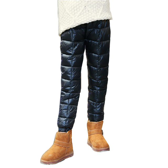 37021d16a3fe7 Invierno Pantalones para Niñas niños ropa algodón espesar Pantalones  cintura elástica caliente Leggings Niñas Uniformes para