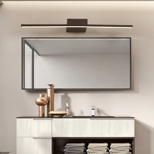 Image 5 - New Arrival Hot Black/White 400/600/800/1000/1200mm Led bathroom mirror lights Modern makeup dressing bathroom led mirror lamp