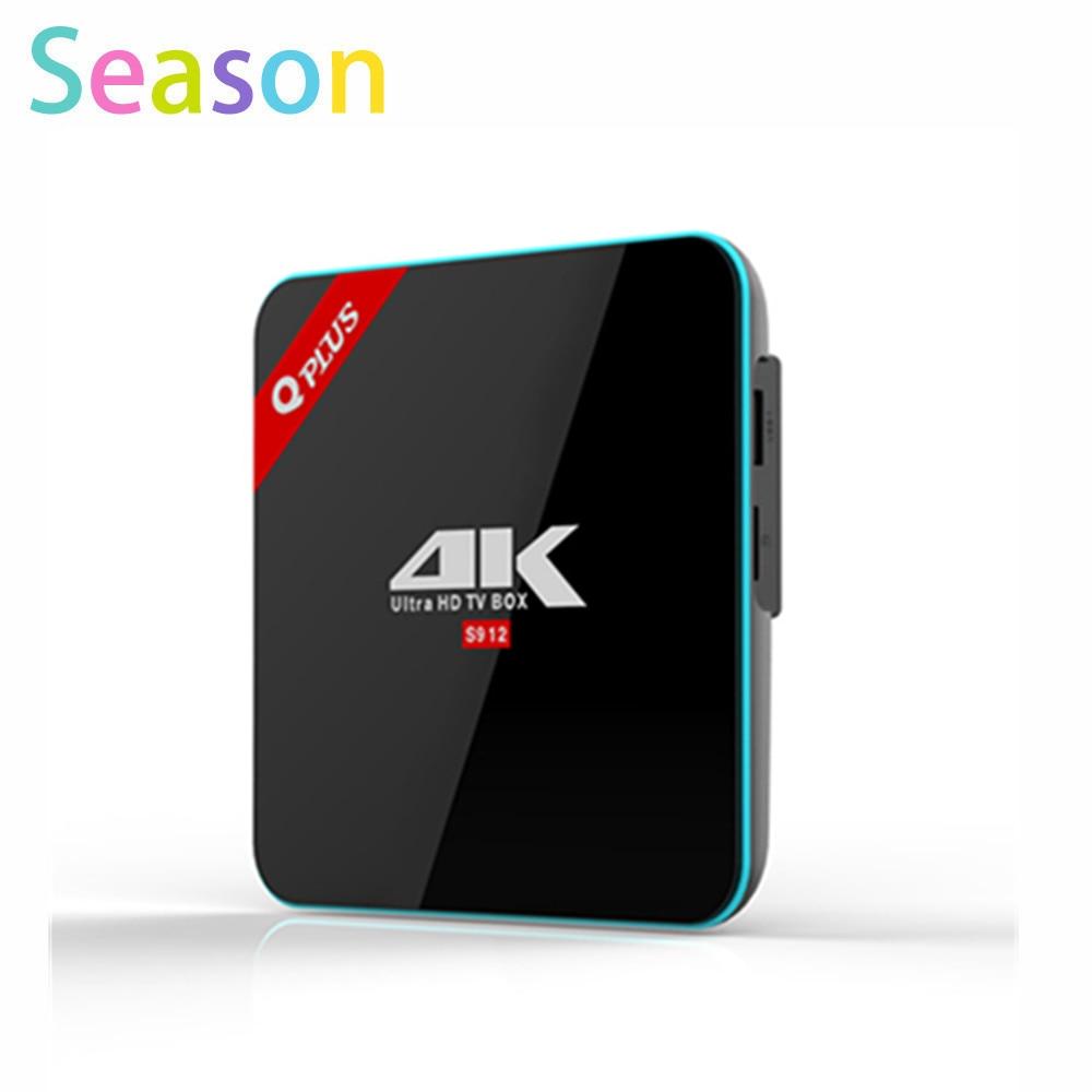 ФОТО Newest Q plus S912 TV Box Octa-core cortex-A53 Android TV Box 6.0 2G/16G better than M8S x96 Set Top Box Media Player
