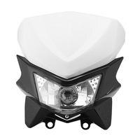 Black White Motorcycle Headlight Fairing Kit 12V Enduro Style Hi Lo Beam Bulb For Dual Sport