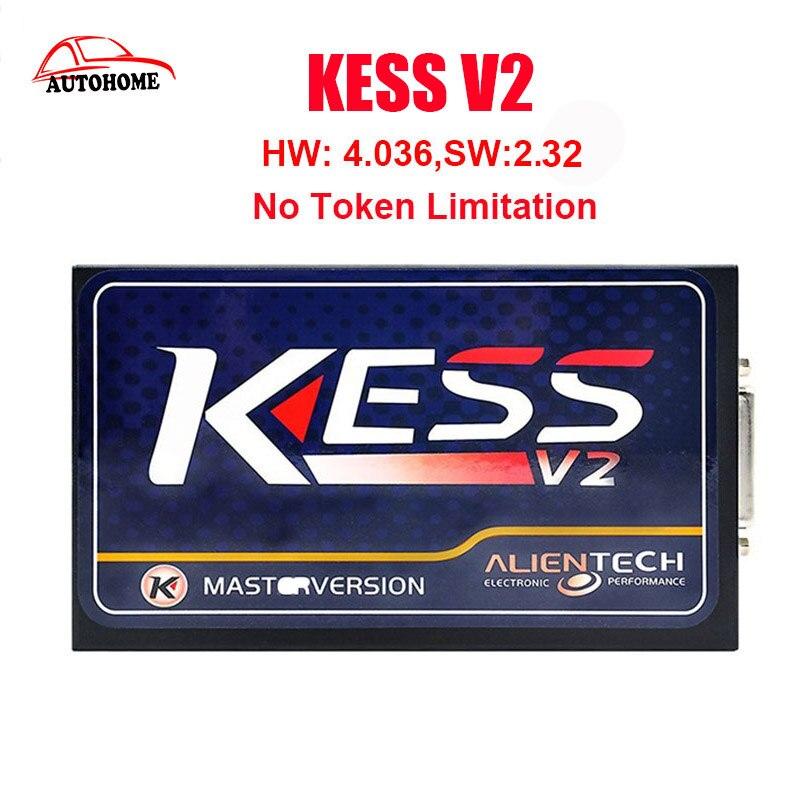 KESS V2 V2.32 V4.036  No Token Limit latest product Kess V2 Master OBD2 Manager Tuning Kit with free china post ship
