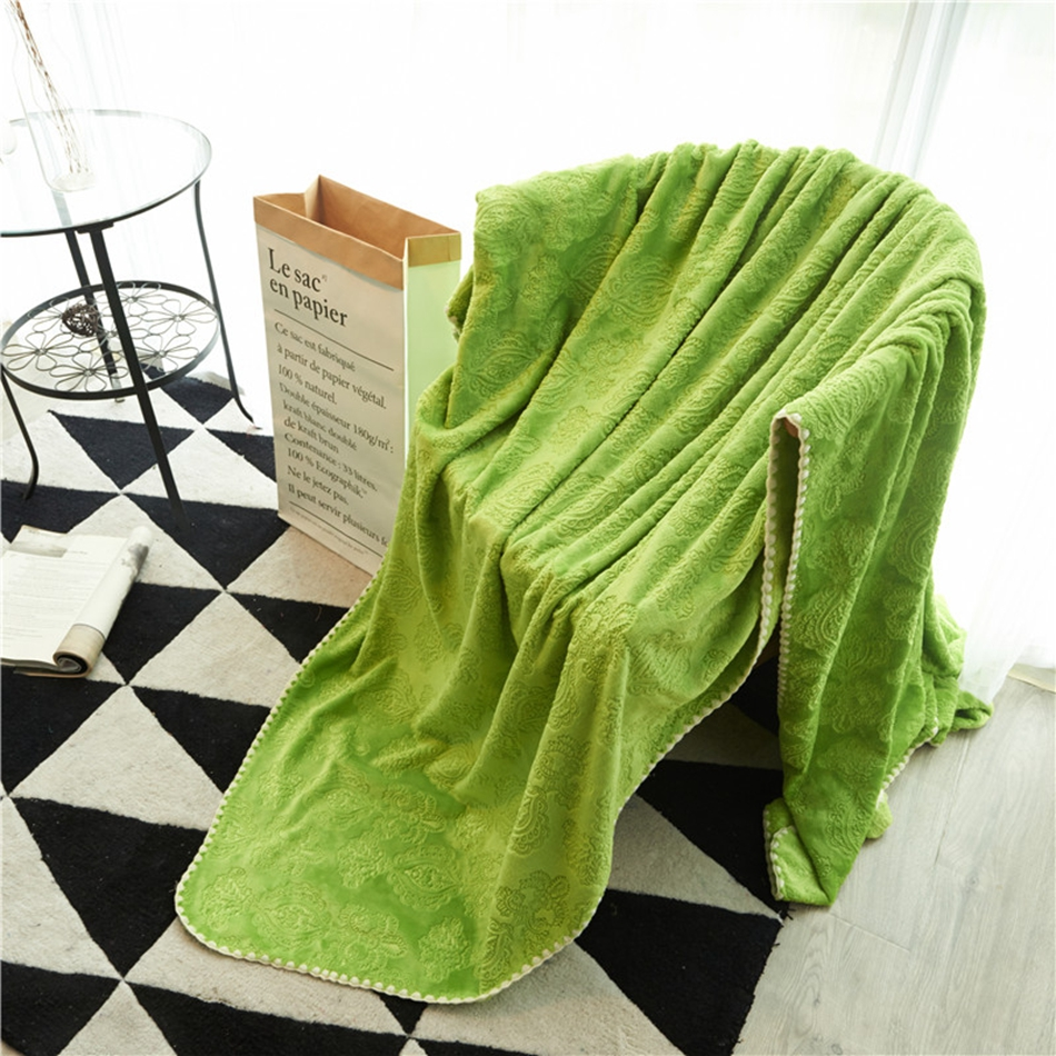 online get cheap green blankets aliexpresscom  alibaba group - summer autumn solid color fleece blankets for bedsofa multisize greenflannel blanket