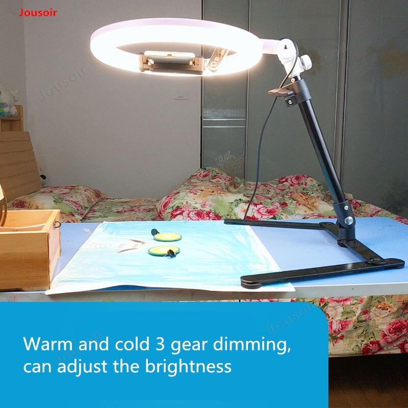 Anneau de remplissage lampe support aérien lumière douce nature morte bijoux diffusion en direct lumière tir SLR photo lampe CD50 T03