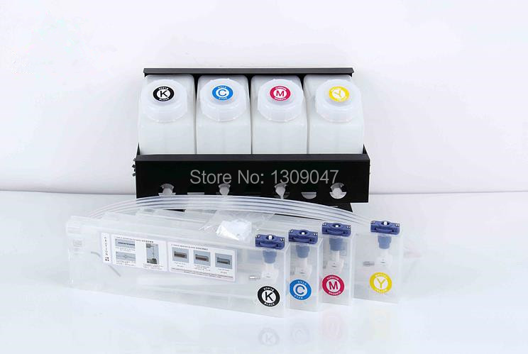 4+4 CISS system continuous ink supply system for 4colors Mutoh/Roland/Mimaki series large format printer bulk ink system 1000ml x 4color textile pigment ink in bottle for roland mimaki mutoh printer
