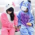 Niños pijamas Hello Kitty niñas bebés ropa azul burro Primavera camisón de los pijamas de Los Niños embroma el animal pijamas infantil STR14