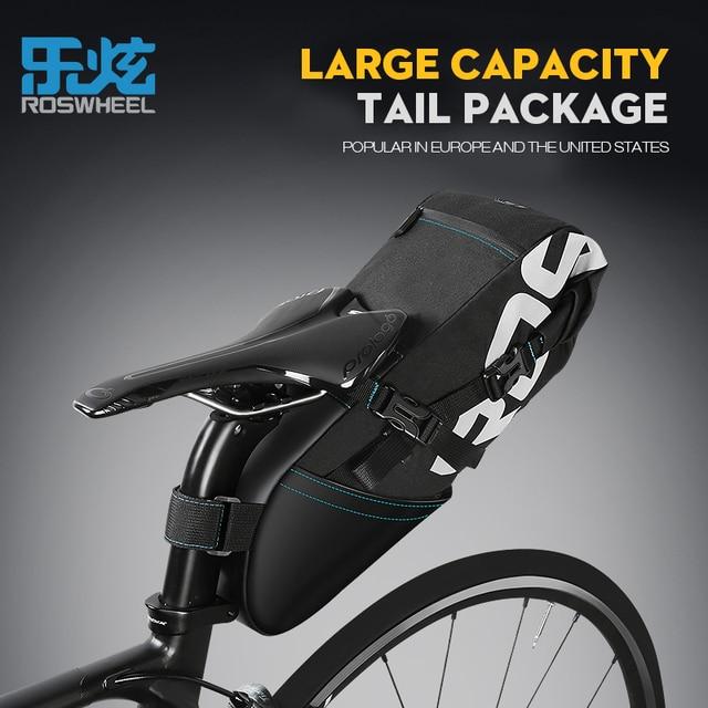 ed970a66ff1 Bolsa de sillín de bicicleta Roswheel maleta en la bicicleta trasera  impermeable bolsa de gran capacidad