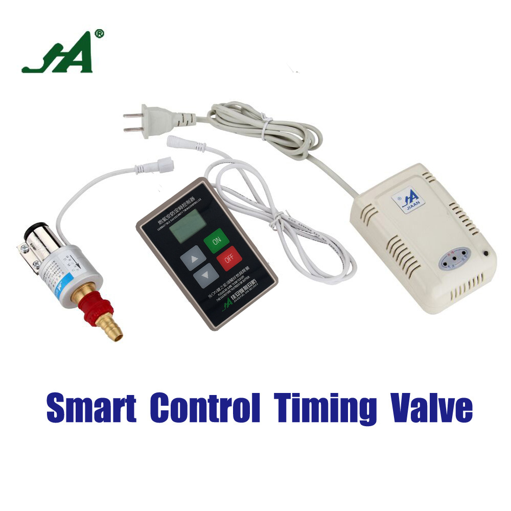 Alarm System JA 8801 LPG Safety Valve Gas Leak Wireless Detector cut valve brass leak monitor close sensor solenoid valve