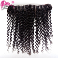 Malaysian Curly Lace Frontal Closure 13x4 Malaysian Virgin Human Hair Top Quality Malaysian Curly Hair Lace Frontal 130% Density