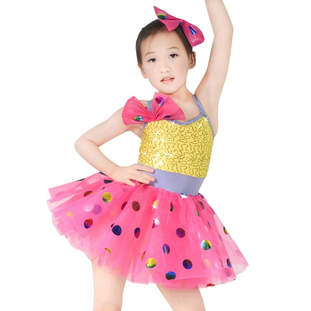 MiDee camisola lentejuelas lunares niñas danza Traje de Ballet ...