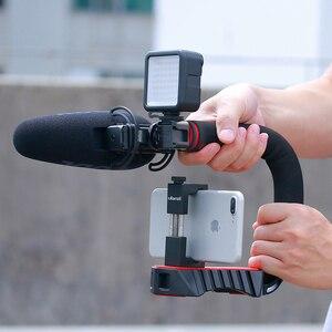 Image 4 - Ulanzi U Grip Pro Triple Schuh Montieren Video Stabilisator Griff Video Griff Kamera Telefon Video Rig Kit für Nikon canon iPhone X 8 7