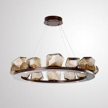 American Simple Retro Light Fixture Nordic Industrial Wind Living Room Chandelier Indoor Lighting Decoration G9 5W