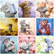 5D DIY Full Square/Round Drill Diamond Painting Cartoon cute bear 3D Rhinestone Cross stitch embroidery Mosaic home decor gift