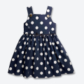 Summer Baby Girls Dress Sleeveless Round Collar Girl Dress Cotton Dot Children Clothing Kids Clothes 2-5 years