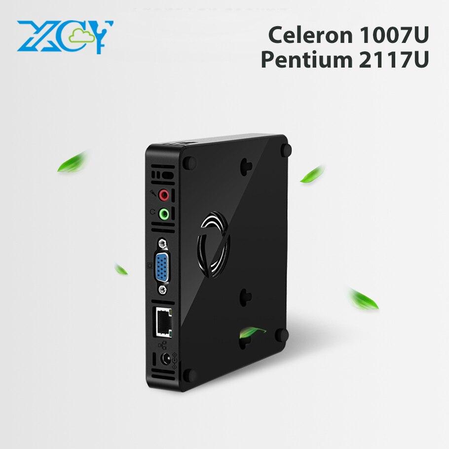 XCY Pocket Mini PC Intel Celeron 1007U Mini Computer Windows 10 HTPC TV Box 300M Wifi