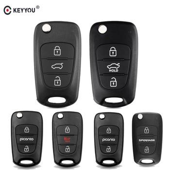 Chiave Telecomando per Kia Rio 3 Picanto Soul Ceed Cerato Sportage K2 K3 K5 3 Tasti Flip Folding Remote Auto Car Key Shell Blanks Case