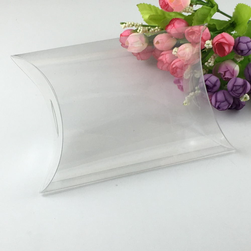 2.8*6*19.5cm 50pcs New Style Clear PVC Pillow Box packaging Wedding ...