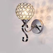 Modern Simple Restaurant Passage Lamp Creative Fashion Crystal Wall Warm Romantic Bedside  Led Light