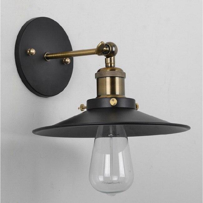 Vintage américain pays personnalité Antique industriel noir applique murale lampe salle de bain à côté de la décoration de la maison luminaire 22 CM - 3