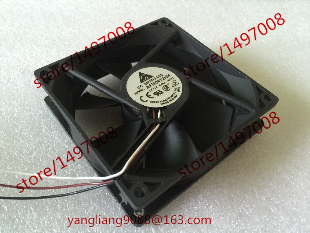 Delta AFB0912HH W022 DC 12V 0.40A 92X92X25mm Server Square Fan мини печь delta d 022 white