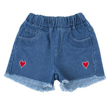 cute denim shorts for girls white jeans pants toddler Baby Ripped Jeans korean children clothing tassel teenage 4t 8 12Yrs