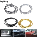 4M/Lot(Volume) DIY Car Interior Air Conditioner Outlet Vent Grille Chrome Decoration Strip 4 colors car styling