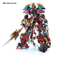 2019 Microworld Lyubu warrior model DIY laser cutting Jigsaw puzzle Animal Robot model 3D metal Puzzle Toys for adult Gift
