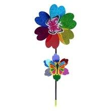 OOTDTY Красочные Блестки ветряная мельница для дома, сада, двора декоративные детские игрушки