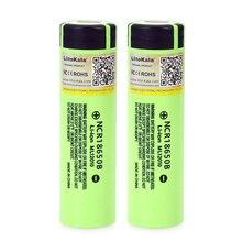 12 개/몫 liitokala 원래 18650 3400 mah ncr18650b 3.7 v 배터리 리튬 충전식 배터리 손전등 배터리
