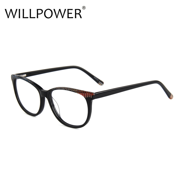 9ae20c4738a WILLPOWER 2018 Acetate Women Optical Glasses Retro Glasses for Men Reading Eyeglasses  Frame Prescription Eyewear