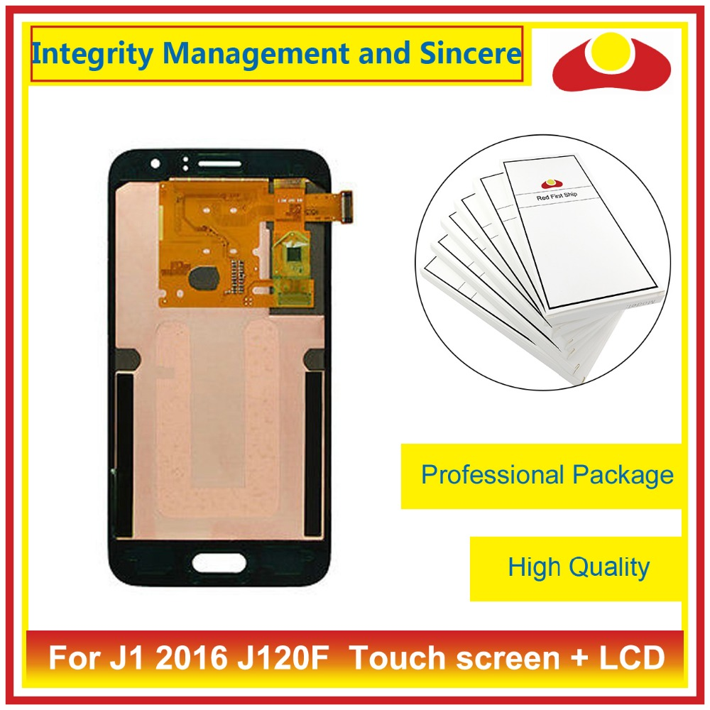 4.5 For Samsung Galaxy J1 2016 J120F J120M J120H J120 Full Lcd Display Touch Screen Digitizer Assembly Complete Blue White Gold brand new tested lcd display touch screen digitizer assembly for samaung galaxy e5 e500f h hq m f h ds replacement parts