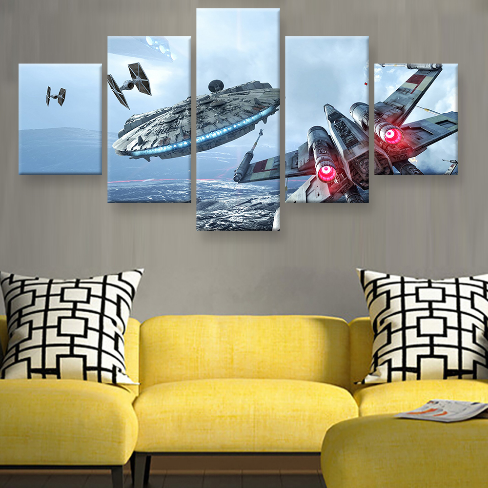 Canvas Modern HD Printed Wall Art Pictures Frame 5 Pieces Millennium ...