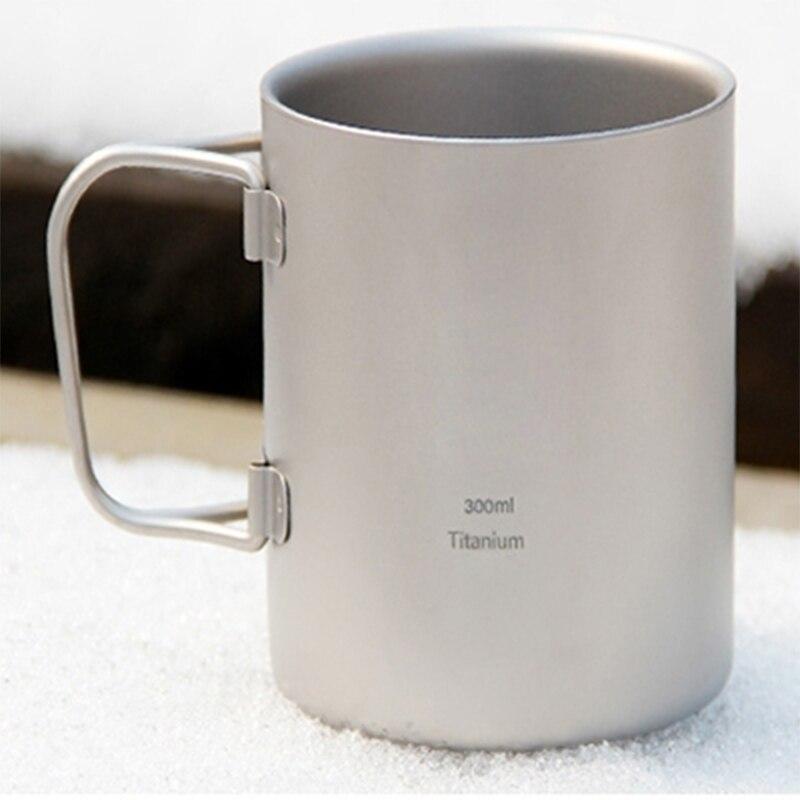 Keith 300 мл кружки складной ручкой двойными стенками titanium кружка с крышкой термо чашка здоровья нетоксичных отдых на природе drinkware copos ti3352
