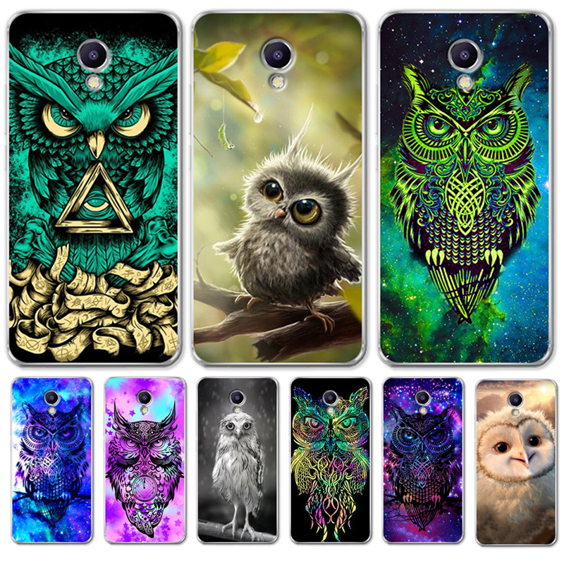 Luxury Owl Starry Blessed Love Lonely For <font><b>Meizu</b></font> <font><b>M3S</b></font> M5 M5S M5C M6 M3 M5 M6 Note U10 U20 Case <font><b>Cover</b></font> Silicone Coque Capinha Etui image
