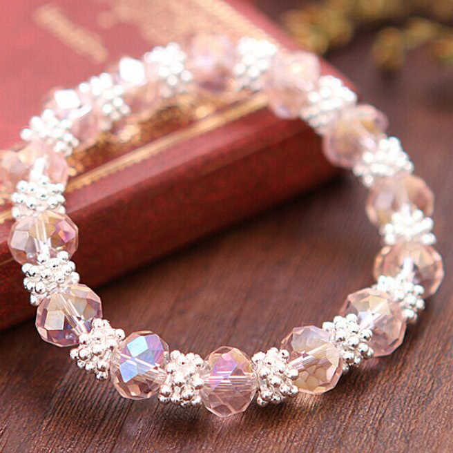 2019 New bohemia style crystal snow women bracelet jewelry metal in silver,Hot selling Christmas bracelet gifts plated silver