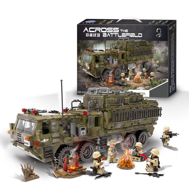 Здесь продается  XINGBAO 06014 Genuine 1377PCS Military Series The Scorpion Heavy Truck Set Building Blocks Bricks Toys Children Christmas Gifts  Игрушки и Хобби