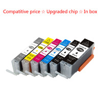 6Pack Compatible Ink Cartridge PGI 570 CLI 571 Inks For Canon PIXMA MG7750 MG7751 MG7752 MG7753