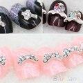 10Pcs 3D Alloy Manicure Glitters Rhinestone DIY Decorations Nail Art Tips Stickers