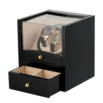 US/UK/AU/EU Plug Automatic Watch Winder Drawer Storage Box 2+2 Motor Shaker Holder Mechanical Self Wind Watches Winders Box